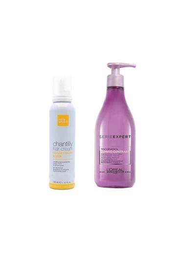 L'oreal Professionnel Loreal Serie Expert Lumino Contrast Röfleli Saç Şampuanı 500 Ml+Repair Şampuan 100 Ml Seyahat Boyu Renksiz